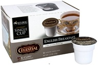 Keurig - Celestial Seasonings English Breakfast Black Tea 12 K-Cups - 1.3 oz. (099555097313)