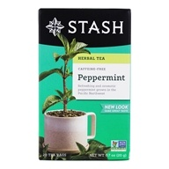Stash Tea - Premium Caffeine Free Herbal Tea Peppermint - 20 Tea Bags