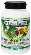 Dr. Linus Pauling - Super Multi Vitamin With Herbs & Energizers Phyto Nutrients & Green Superfoods - 120 Caplets by Dr. Linus Pauling
