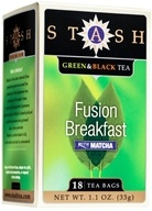 Stash Tea - Premium Fusion Breakfast Green & Black Tea with Matcha - 18 Tea Bags (077652083620)