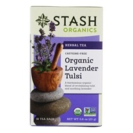 Stash Tea - Premium Organic Caffeine Free Herbal Tea Lavender Tulsi - 18 Tea Bags