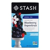 Stash Tea - Premium Caffeine Free Herbal Tea Blueberry Superfruit - 20 Tea Bags (077652082661)