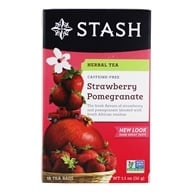Stash Tea - Premium Caffeine Free Herbal Red Tea Strawberry Pomegranate - 18 Tea Bags (077652082708)