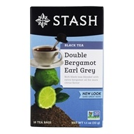 Stash Tea - Premium Double Bergamot Earl Grey Black Tea - 18 Tea Bags (077652082098)