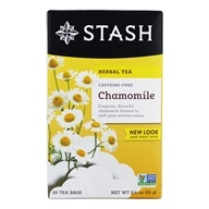 Stash Tea - Premium Caffeine Free Herbal Tea Chamomile - 20 Tea Bags (077652082210)