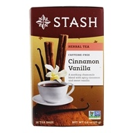 Stash Tea - Premium Caffeine Free Herbal Tea Cinnamon Vanilla - 18 Tea Bags