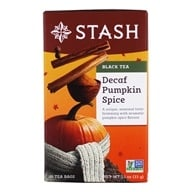 Stash Tea - Premium Pumpkin Spice Decaf Black Tea - 18 Tea Bags (077652083767)