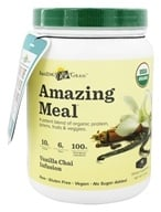 Amazing Grass - Amazing Meal Powder 15 Servings Vanilla Chai Infusion - 12.4 oz. LUCKY PRICE - $29.99
