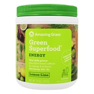 Amazing Grass - Green SuperFood Energy Drink Powder Lemon Lime - 7.4 oz.