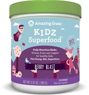 Amazing Grass - Kidz SuperFood Powder 30 Servings Wild Berry - 6.5 oz. by Amazing Grass