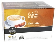 Image of Keurig - Cafe Escapes Chai Latte 12 K-Cups - 5.93 oz.