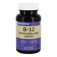 MRM - B12 Methylcobalamin Sublingual Orange 2000 mcg. - 60 Lozenges - $8.25