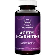 Acetyl L-Carnitine for Alertness & Mental Focus 500 mg. - 60 Vegetarian Capsules by MRM