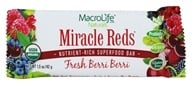 MacroLife Naturals - Miracle Reds Raw Antioxidant Super Food Bar Fresh Berri-Berri - 1.5 oz., from category: Nutritional Bars