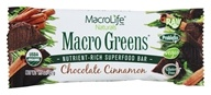 Image of MacroLife Naturals - Macro Greens Raw Antioxidant Super Food Bar Chocolate & Cinnamon - 1.5 oz.