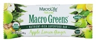 MacroLife Naturals - Macro Greens Raw Antioxidant Super Food Bar Apple Lemon Ginger - 1.5 oz.