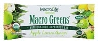 MacroLife Naturals - Macro Greens Raw Antioxidant Super Food Bar Apple Lemon Ginger - 1.5 oz., from category: Nutritional Bars