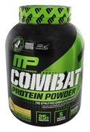 Muscle Pharm - Combat Advanced Time Release Protein Powder Banana Cream - 4 lbs.