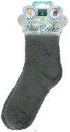 Earth Therapeutics - Aloe Socks Foot Therapy To Pamper & Moisturize Grey - 1 Pair CLEARANCE PRICED