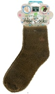 Earth Therapeutics - Aloe Socks Foot Therapy To Pamper & Moisturize Brown - 1 Pair CLEARANCE PRICED
