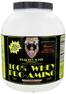 Healthy N' Fit - 100% Whey Pro-Amino Heavenly Chocolate - 5 lbs. by Healthy N' Fit