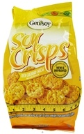 Genisoy - Soy Crisps Naturally Flavored Rich Cheddar Cheese - 3.85 oz.