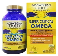 ReNew Life - Norwegian Gold Ultimate Fish Oils Maximum Strength Omega-3 Super Critical Omega Natural Orange Flavor 1200 mg. - 60 Fish Softgel(s) - $45.89
