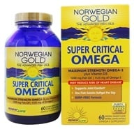 Image of ReNew Life - Norwegian Gold Ultimate Fish Oils Maximum Strength Omega-3 Super Critical Omega Natural Orange Flavor 1200 mg. - 60 Fish Softgel(s)