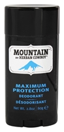 Herban Cowboy - Natural Grooming Deodorant Stick Maximum Protection Mountain - 2.8 oz.