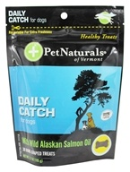 Pet Naturals of Vermont - Daily Catch for Dogs with Wild Alaskan Salmon Oil - 30 Bone-Shaped Treats by Pet Naturals of Vermont