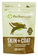 Image of Pet Naturals of Vermont - Skin and Coat Support For Cats Duck Flavored - 30 Chews
