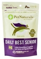 Pet Naturals of Vermont - Daily Best Senior For Cats Chicken Liver Flavored - 45 Chews