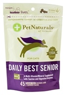 Pet Naturals of Vermont - Daily Best Senior For Cats Chicken Liver Flavored - 45 Chews by Pet Naturals of Vermont