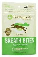 Pet Naturals of Vermont - Breath Bites For Dogs Chicken Liver Flavored - 21 Chews by Pet Naturals of Vermont