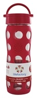 Lifefactory - Glass Beverage Bottle With Silicone Sleeve Raspberry - 16 oz.