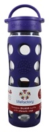 Image of Lifefactory - Glass Beverage Bottle With Silicone Sleeve Royal Purple - 16 oz.