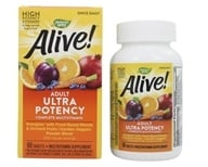 Image of Nature's Way - Alive Once Daily Multi-Vitamin Whole Food Energizer Ultra Potency - 60 Tablets