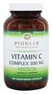Pioneer - Vitamin C Complex Naturally Buffered 500 mg. - 180 Vegetarian Capsules by Pioneer