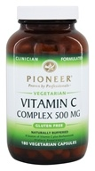 Pioneer - Vitamin C Complex Naturally Buffered 500 mg. - 180 Vegetarian Capsules (032811000351)