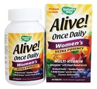 Image of Nature's Way - Alive Once Daily Women's Multi-Vitamin & Whole Food Energizer Ultra Potency - 60 Tablets