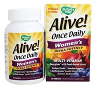 Nature's Way - Alive Once Daily Women's Multi-Vitamin & Whole Food Energizer Ultra Potency - 60 Tablets - $12.61