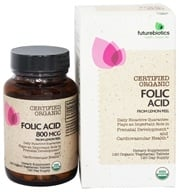 Futurebiotics - Certified Organic Folic Acid From Lemon Peel - 120 Vegetarian Tablets (049479035182)