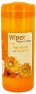 Wipex Natural Wipes - Furniture Wipes with Orange Oil Extra Large 7 in. x 9 in. - 30 Wipe(s) - $4.79