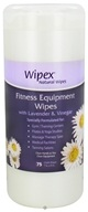 Wipex Natural Wipes - Fitness Equipment Wipes with Lavender & Vinegar 7 in. x 9 in. - 75 Wipe(s)