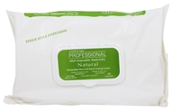 A World of Wipes - Professional Natural Adult Disposable Washcloths Extra Large 8 in. x 12 in. Fragrance Free - 48 Pack by A World of Wipes