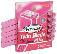 Personna - Twin Blade Plus Disposable Razors For Women - 5 Pack CLEARANCE PRICED