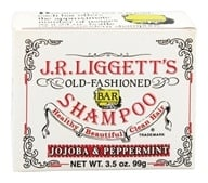 JR Liggett's - Old-Fashioned Shampoo Bar Jojoba and Peppermint - 3.5 oz. (049056111049)