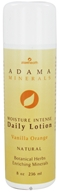 Zion Health - Adama Minerals Moisture Intense Daily Lotion Orange Vanilla - 8 oz.