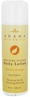 Image of Zion Health - Adama Minerals Moisture Intense Daily Lotion Orange Vanilla - 8 oz.