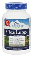 Ridgecrest Herbals - ClearLungs Extra Strength - 120 Vegan Caps